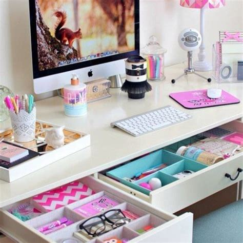 Girly Office Desk Accessories by Inspired Desk Organization Room Decor