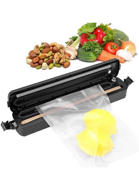 portable preservation cooking food saver vacuum sealer machine  pcs bags foodsaver sealing