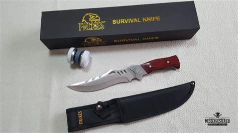 jagdmesser survival knife hunting star test  glaenzt