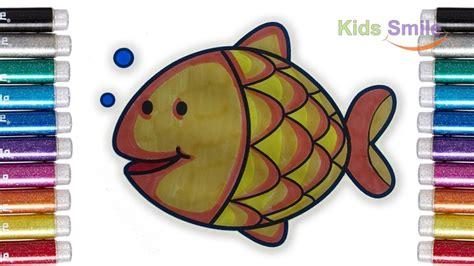 belajar mewarnai ikan dengan spuidol untuk anak coloring