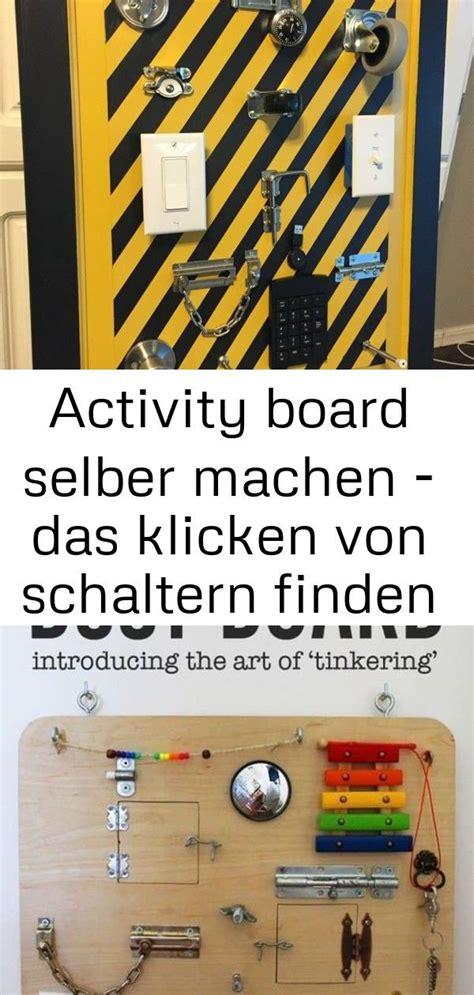 activity board selber machen das klicken von schaltern