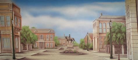 Town Backdrop by Town Square Stage Backdrops Grosh Es7535