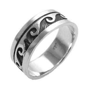 mens sterling silver ring size 12 ebay