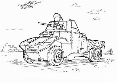 Coloring Army Military Pages Truck Vehicles Sheets