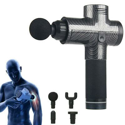 Carbon Fiber Percussive Vibration Therapy Massage Gun