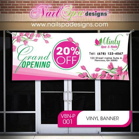 vinyl banner   nail spa designs