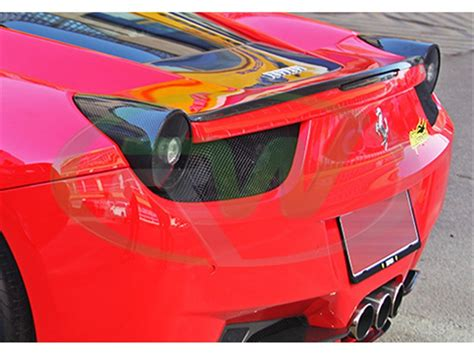 Shop from the world's largest selection and best deals for ferrari car rear light assemblies for ferrari. Ferrari 458 Carbon Fiber Tail Light Covers
