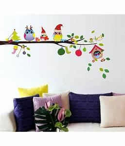 StickersKart christmas PVC Multicolour Wall Stickers - Buy StickersKart christmas PVC