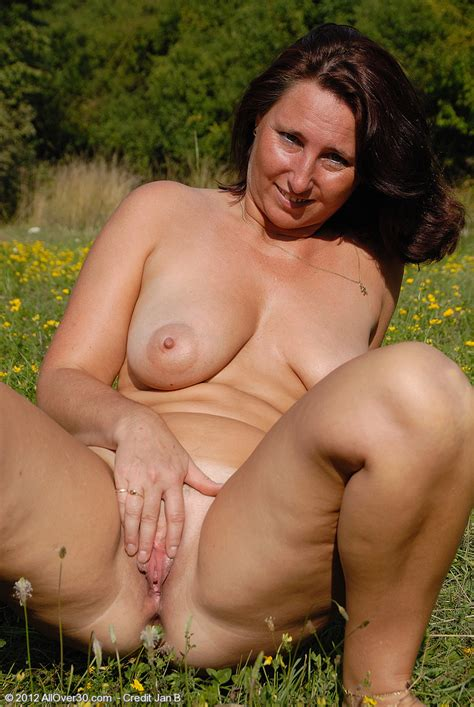 redhead milf demi strip naked at the outdoor milf fox