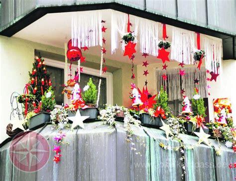 Balkon Weihnachtlich Dekorieren by Balkon Dekoration Weihnachten