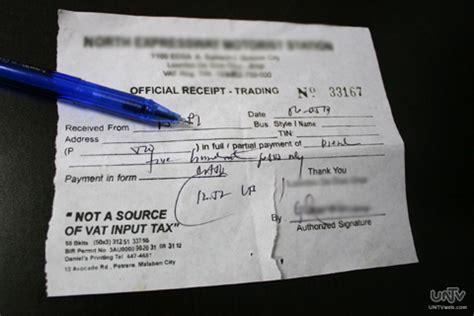 bagong format ng official receipt  sales invoices