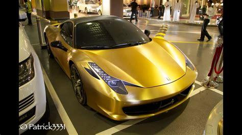 Gold Brushed Ferrari 458 Italia Dubai