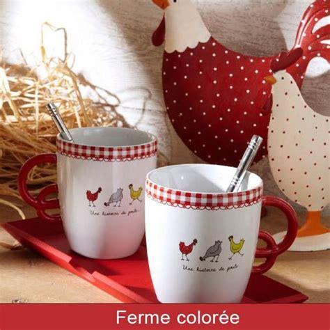 decoration poule pour cuisine vaisselle plateau mug déco cuisine déco poule