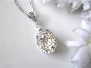 signing stones for wedding swarovski drop bridal necklace bridal jewelry