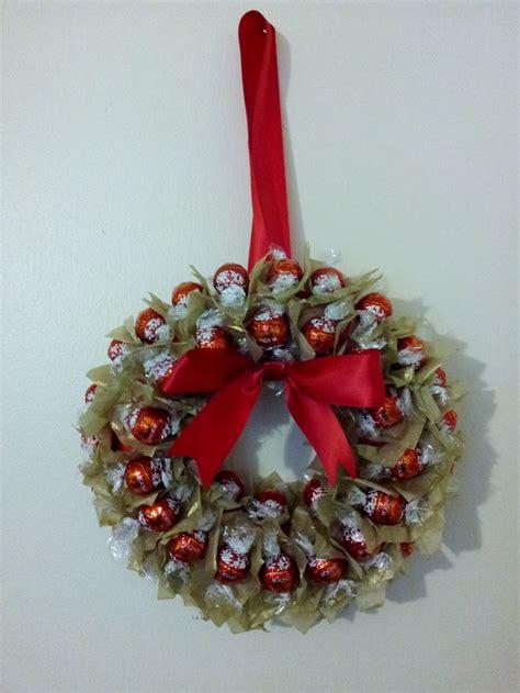 lindt lindor sweet wreath cute idea lindt lindor