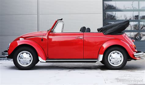 vw käfer cabrio oldtimerdepot reutlingen vw k 228 fer cabrio rot