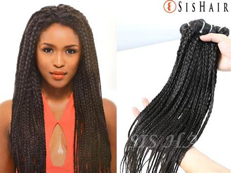 {1 Bundle} 9a Brazilian Virgin Hair Box Braids