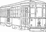 Streetcar Clipart Orleans Clip Cars Cliparts Coloring Vector Clker Library Streets Sketch Pages Ash Shared Clipground Template sketch template