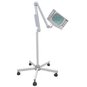 magnifying swinging arm l 5x diopter magnification lighted with floor stand desk ls