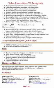 sales executive cv template 2 With sales cv template uk