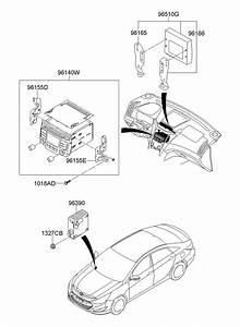Hyundai Sonata Audio Assembly  Radio Control Unit  W  O