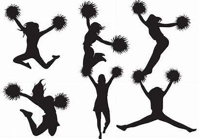 Cheerleader Cheer Silhouette Vector Clipart Cheerleading Pack