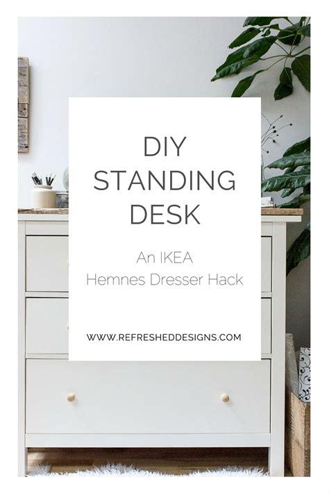ikea hemnes desk hack diy standing desk with ikea hemnes dresser refreshed designs