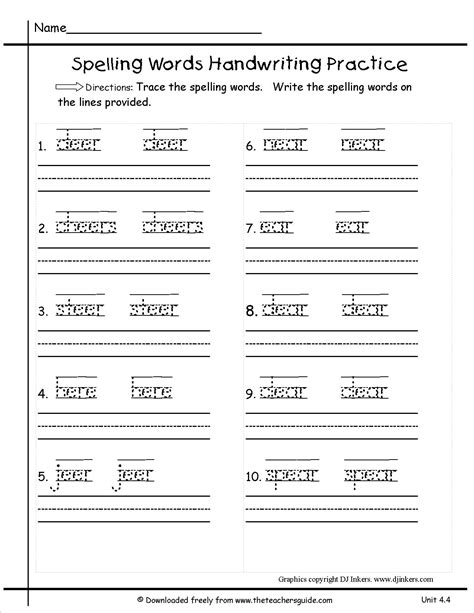 handwriting worksheets for second grade worksheets for all