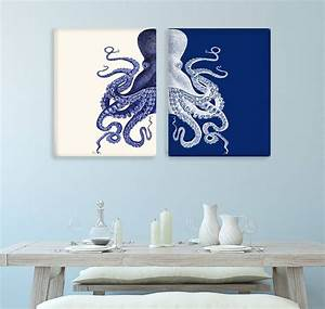 the best blue and cream wall art With blue wall decor