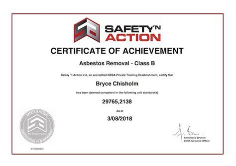 bryce chisholm class  asbestos removal qualitas