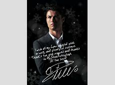 CR7 signing an exclusive NYE photo for MyStarAutograph´s