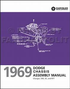 1969 Dodge Charger Chassis Assembly Manual Reprint