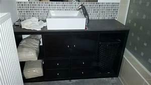 Meuble Pour Petite Salle De Bain : meuble diy ikea pour une petite salle de bain ~ Melissatoandfro.com Idées de Décoration