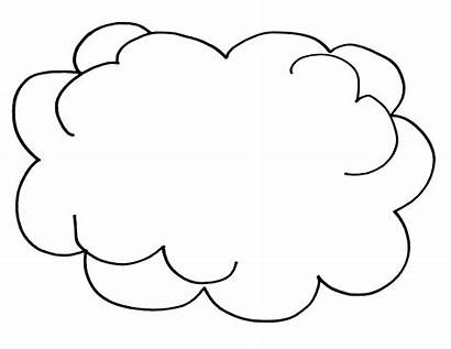Cloud Coloring Pages Clouds Printable Colouring Template