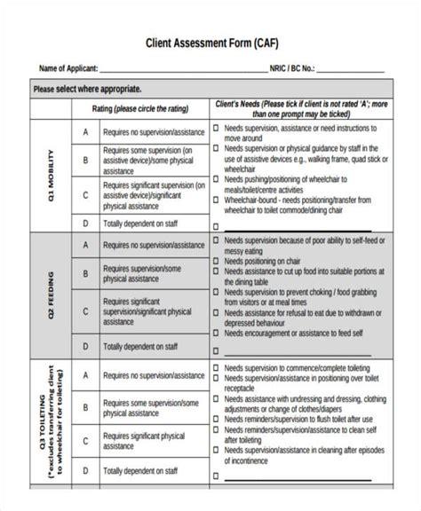 assessment form templates  premium templates