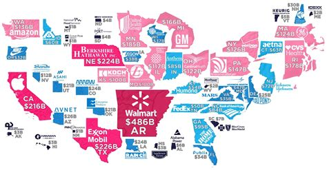 largest state revenue company companies every map each private headquartered highest walmart howmuch business data california