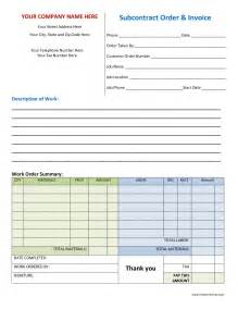 Work Order Form Template Excel Work Order Invoice Printable Invoice Template