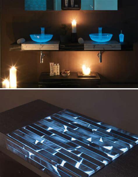 glowing countertop glow in the dark home furniture lights up nights urbanist