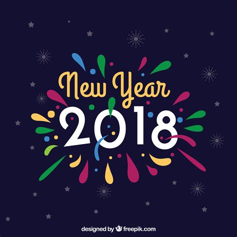 Happy New Year 2018 Colorful Full Hd 4k Wallpaper Happy