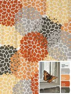 Gray And Orange Shower Curtain by Orange Shower Curtains On Pinterest Orange Bedrooms Shower Curtains And Curtains