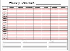 Daily Hourly Calendar FREE DOWNLOAD Champlain College
