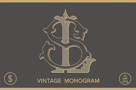 ls monogram sl monogram logo templates creative market