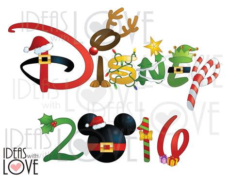 customized disney xmas images  clipart collection