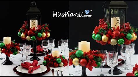 diy holiday ornament table centerpiece   diy