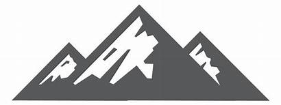 Mountain Mountains Clipart Clip Transparent Gray Line
