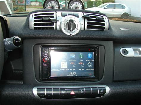 smart 451 radio din 2 radio faceplate smart fortwo 451 facelift from 2010 black ebay