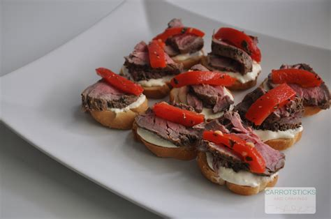 beef canapes recipes roasted beef canapés carrotsticks and cravings
