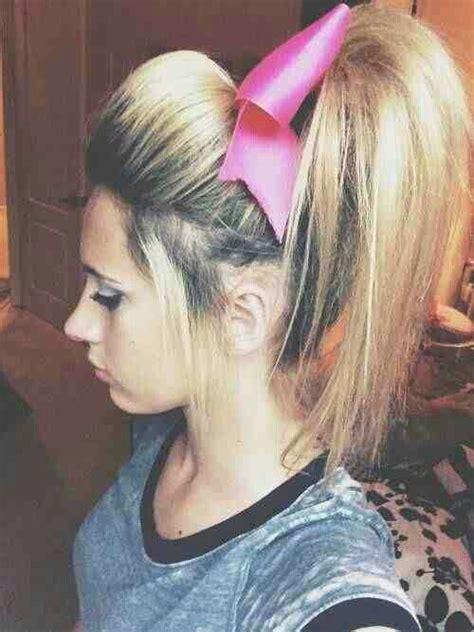 the cheerleader hair cheerleading cheer hair