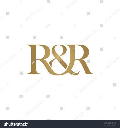 R&r Initial Logo Ampersand Monogram Logo Stock Vector