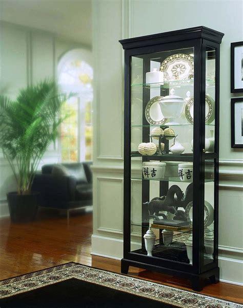 Furniture Willmott Curio Cabinet by Oxford Black Curio Cabinet By Pulaski Furniture For The